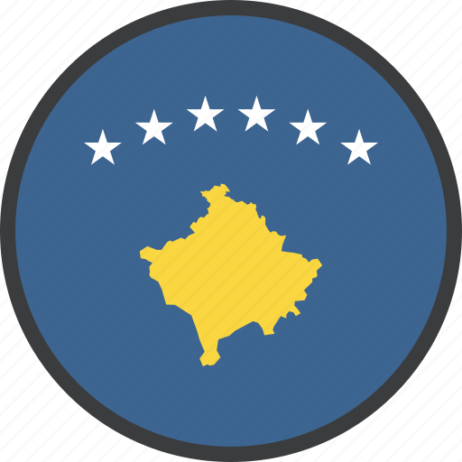 country, european, flag, kosovan, kosovo icon