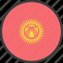 asian, country, flag, kyrgyzstan