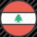 asian, country, flag, lebanese, lebanon