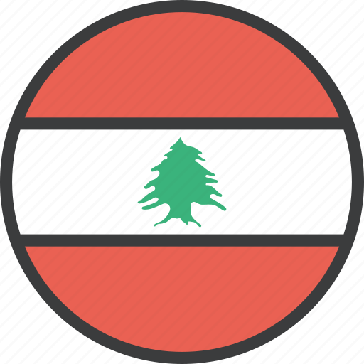 asian, country, flag, lebanese, lebanon icon