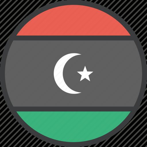 african, country, flag, libya, libyan icon
