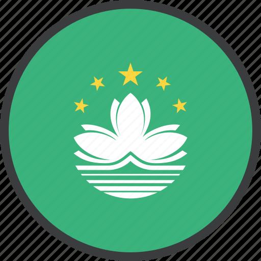asian, country, flag, macau icon