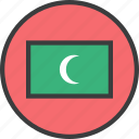 asian, country, flag, maldives icon