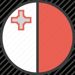 country, european, flag, malta icon