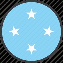 country, flag, micronesia icon