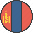 asian, country, flag, mongolia, mongolian icon