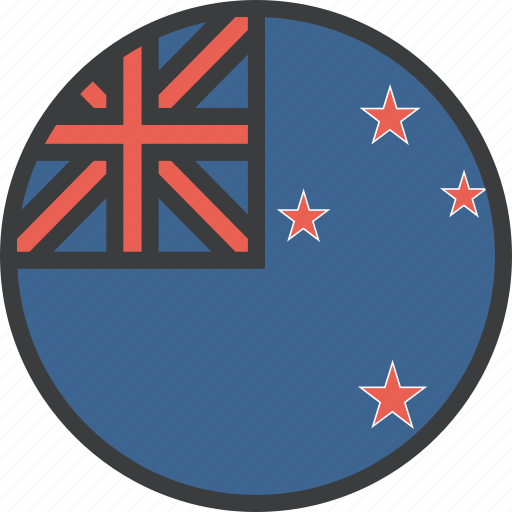 country, flag, kiwi, new, zealand icon
