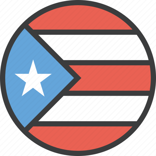 country, flag, puerto, rico icon