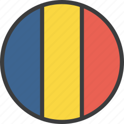 country, european, flag, romania, romanian icon