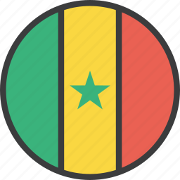 african, country, flag, senegal icon