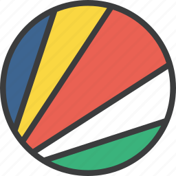 african, country, flag, seychelles icon