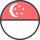 asian, country, flag, singapore, singaporean icon