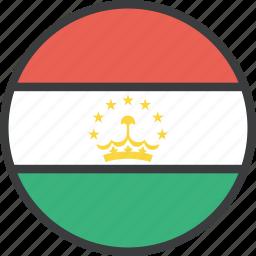 asian, country, flag, tajikistan icon