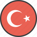 asian, country, flag, turkey, turkish icon