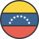 country, flag, venezuela, venezuelan icon