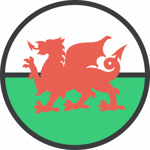 country, european, flag, wales, welsh icon