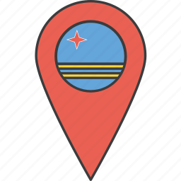 aruba, country, flag icon