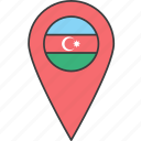 asian, azerbaijan, country, flag icon