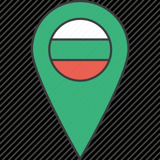 bulgaria, bulgarian, country, european, flag icon