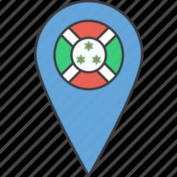 african, burundi, country, flag icon