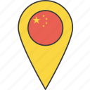 country, flag, china, asian, chinese icon