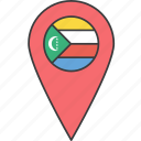 african, comoros, country, flag icon
