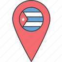 country, cuba, cuban, flag icon