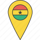 african, country, flag, ghana icon