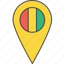 african, country, flag, guinea, guinean icon
