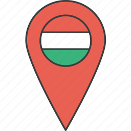 country, european, flag, hungarian, hungary icon