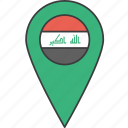 asian, country, flag, iraq, iraqi icon