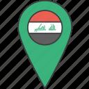 asian, country, flag, iraq, iraqi icon