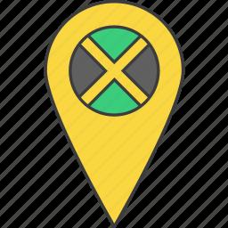 country, flag, jamaica, jamaican icon