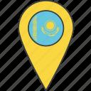 asian, country, flag, kazakh, kazakhstan icon