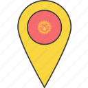 asian, country, flag, kyrgyzstan icon
