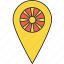 asian, country, flag, macedonia, macedonian icon
