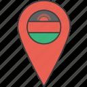 african, country, flag, malawi, malawian icon