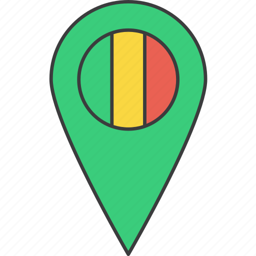 african, country, flag, mali icon