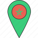african, country, flag, morocco icon