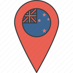 country, flag, kiwi, new, zealand icon