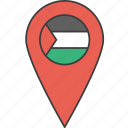 palestine, country, flag, asian, palestinian icon
