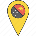 papua, country, flag, guinea, new icon