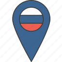 country, european, flag, russia, russian icon
