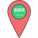 arabia, arabian, asian, country, flag, saudi icon