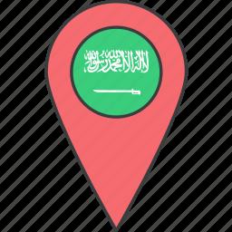 arabia, arabian, asian, country, flag, saudi icon