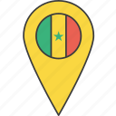 african, country, flag, senegal