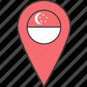 asian, country, flag, singapore, singaporean