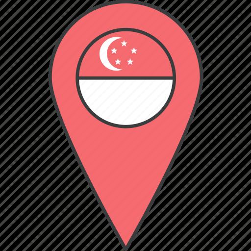 asian, country, flag, singapore, singaporean icon