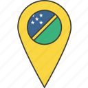 country, flag, islands, solomon icon