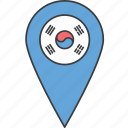 asian, country, flag, korea, korean, south icon